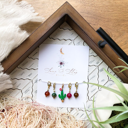 Cactus Stitch Marker Set