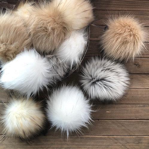 Luxe Faux Fur Poms