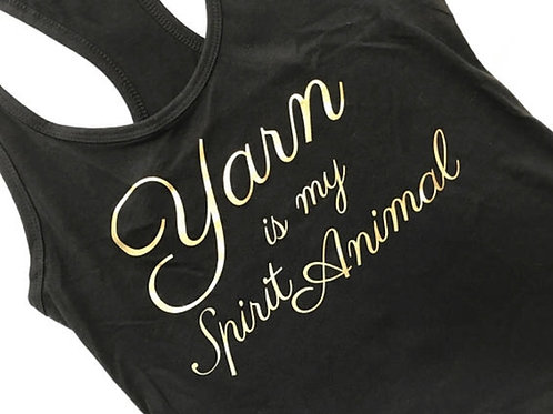 Yarn Is My Spirit Animal Racerback Tank