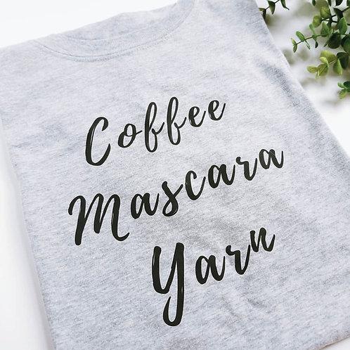 Coffee Mascara Yarn Unisex Tee