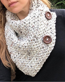 The Bentley Button Cowl Crochet Pattern