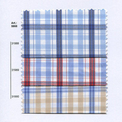 Art.: 5868 - 5869 Плат каре, памук, полиестер