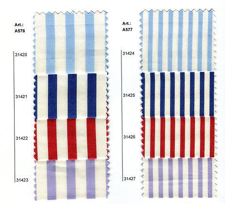Art.A574-Α575-Α576-A577 Ριγε Υφασμα Βαμβακερο Σατεν