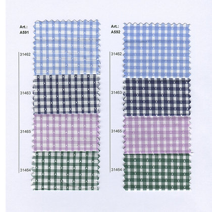 Art.:Α591 -Α592 Памучен кариран плат  Доби