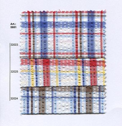 Art.: 5881 - 5882 Плат каре, памук, полиестер мачкан