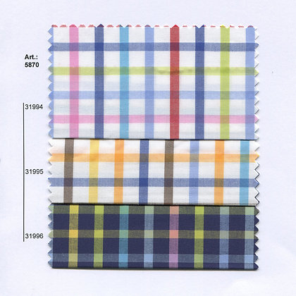Art.: 5858 - 5859 - 5870 Плат каре, памук, полиестер
