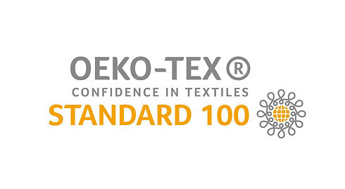 the official OEKO-TEX standard 100 logo provided as a certificate for the textiles