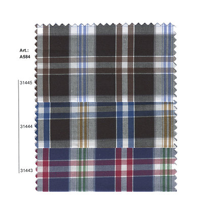 Art.: Α584 - Α587 Памучен кариран плат
