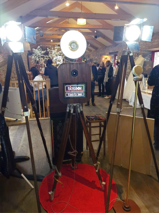 Beautiful photo booth with lighting at Knightor winery