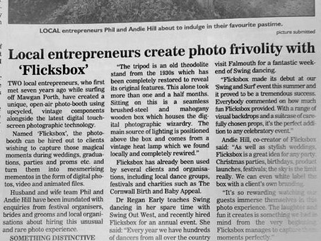 Flicksbox in the St Ives Times & Eco