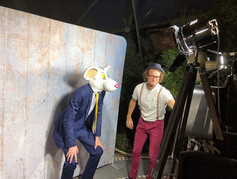 photo booth with attendant in action