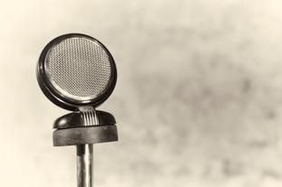 Vintage Grundig microphone.