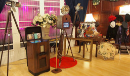 Vintage Photo Booth set up at the Headland Hotel Newquay