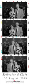 Katherine and Chris, black and white photo booth pics