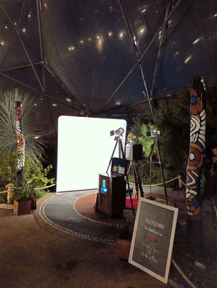 Retro booth set up at Eden Project