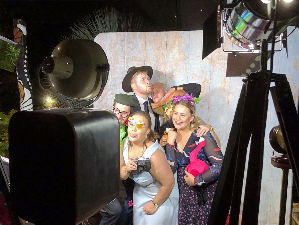 People using Retro Photo Booth at Eden Project