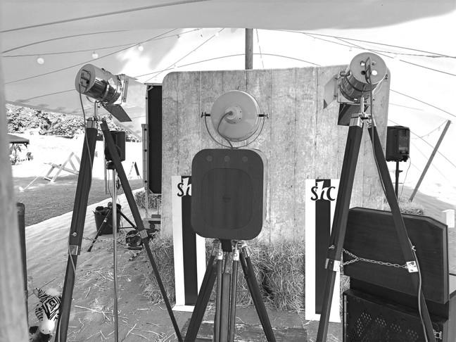 Flicksbox photo booth set up at Boconnoc Estate