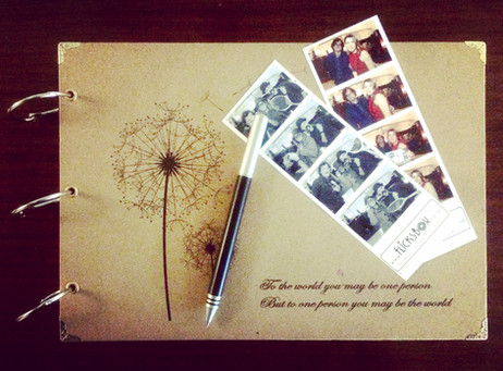 Guest Book and double photo strip