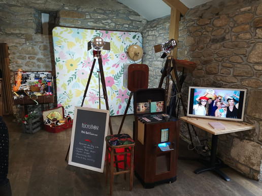 Our photo booth set up at Knightor open day