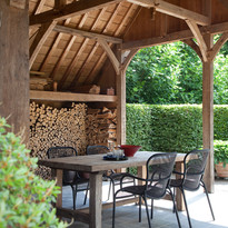 Loop chairs for outdoor dining