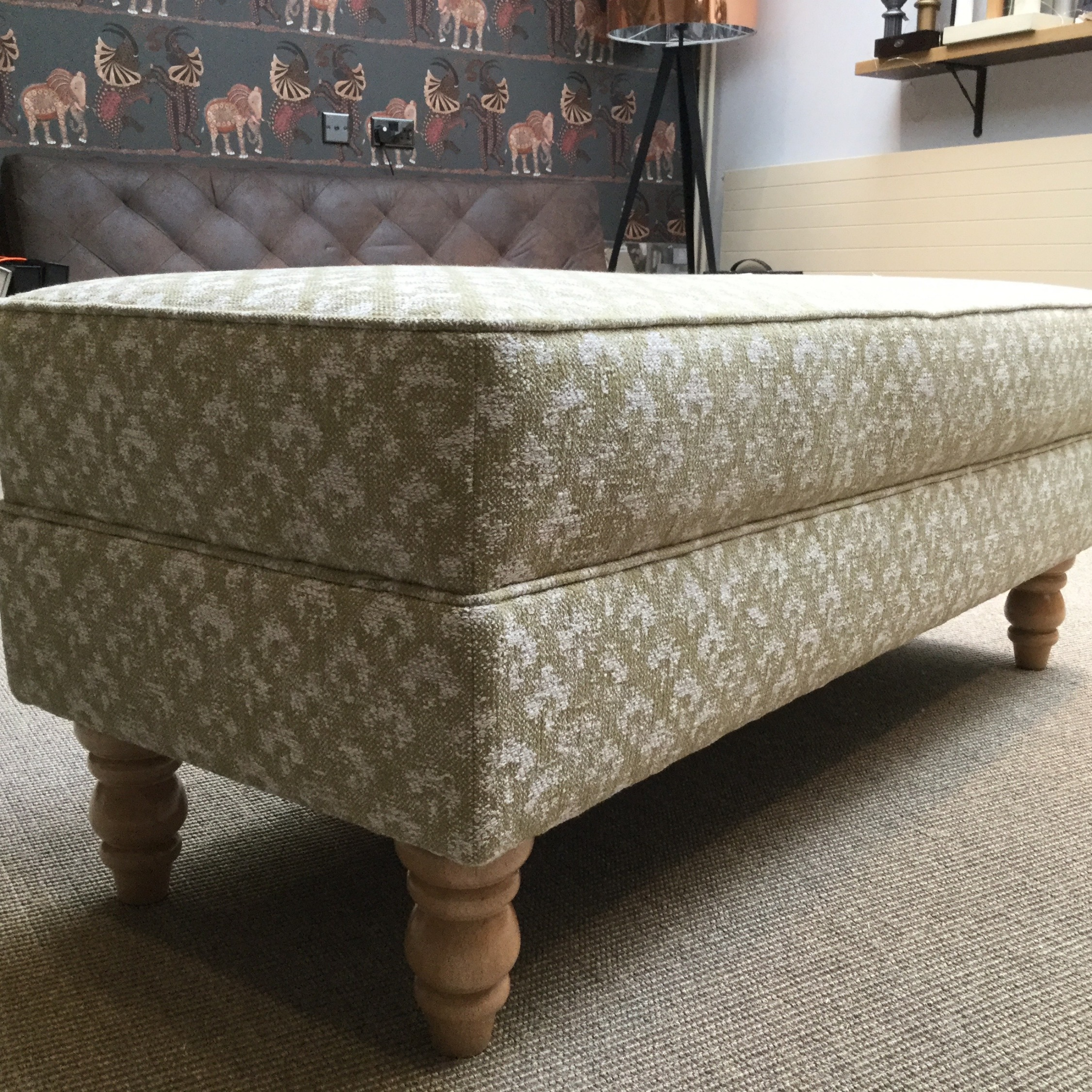 Re-upholstered Ottoman