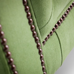Mayfair Green close up stud detail