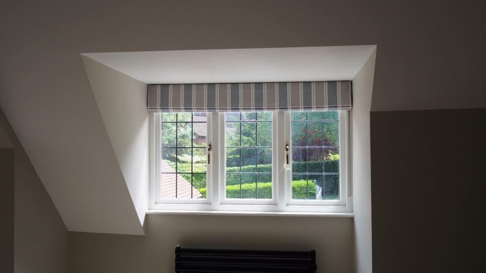 Roman Blinds for Dormer Window