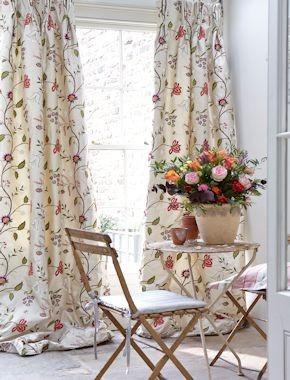 Silwood Silk curtains.