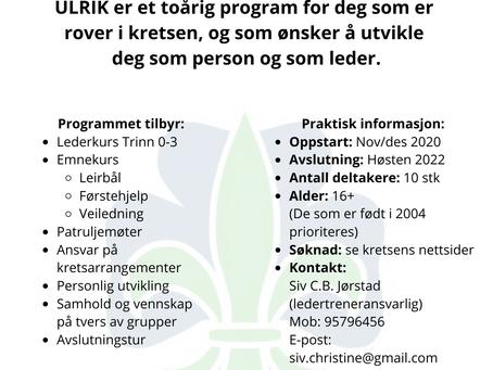 Invitasjon ULRIK 2022