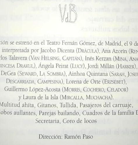 """El teatro también se lee. """"Drácula. Biografía no autorizada"""" publicada por Grupo Éride."""