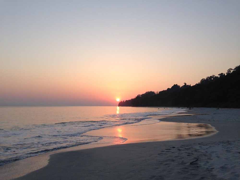 sunset, india, andaman