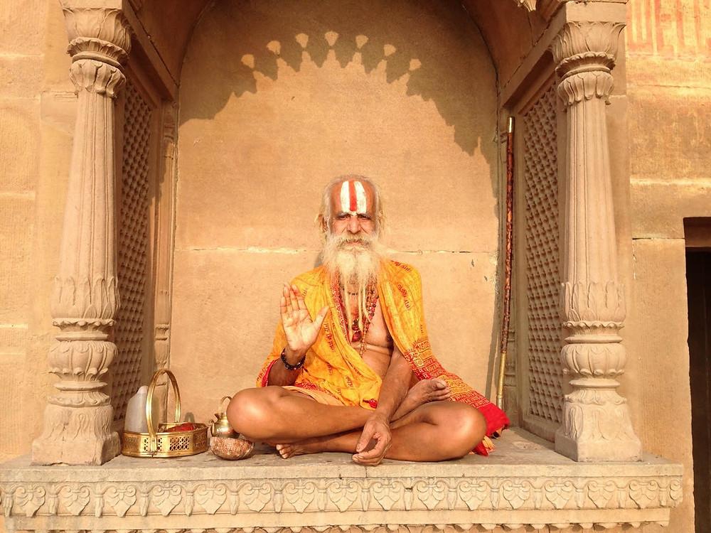 yogi, india, varanasi