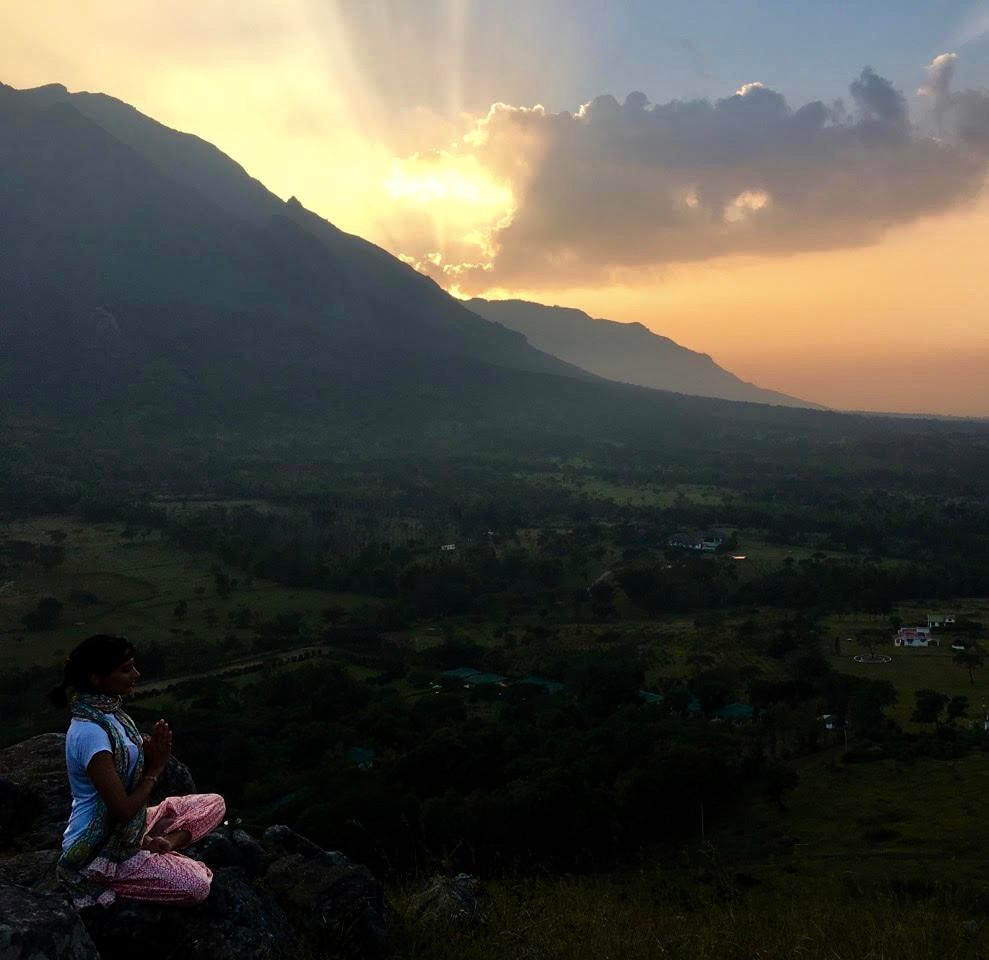 meditation, masinaguddi, sunset