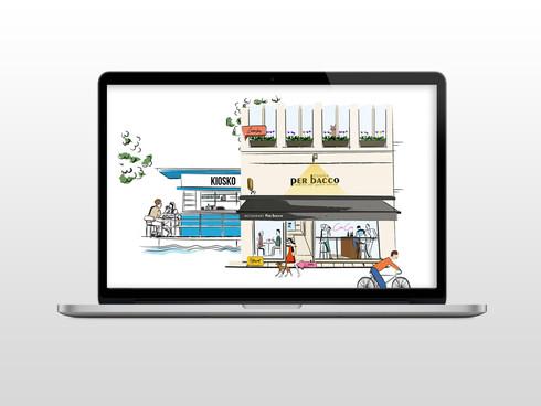 Per Bacco Website