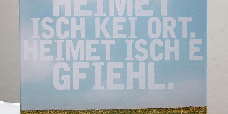 """""""Heimet"""" ACRYLGLAS-AUFSTELLER"""