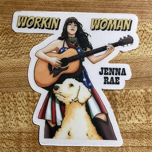 """Workin' Woman"" Sticker"