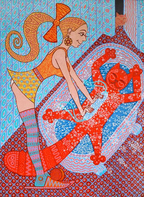 Рамон Рамирес. Купание красного кота