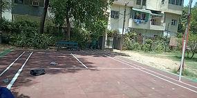 Badminton Flooring for Outdoors