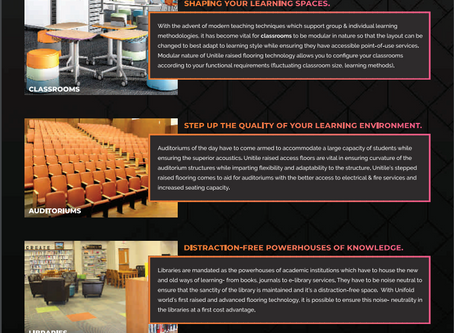 Unitile False Flooring making inroads into Education sector with Expertise from Pallium