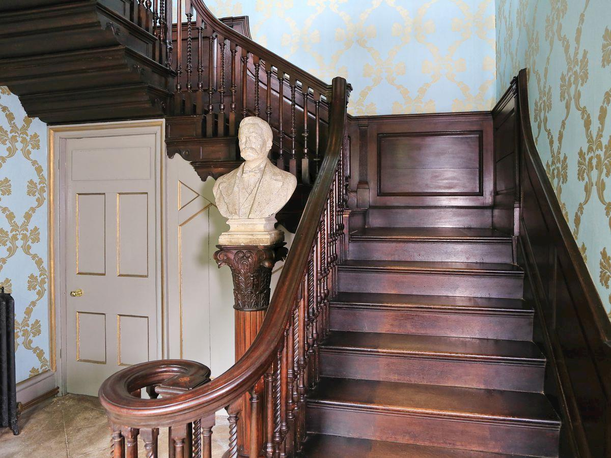 Grand staircase - Lea Hall, Matlock