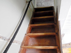 Very steep stairs to bedroom _ The Manor House, Alport, near Bakewell