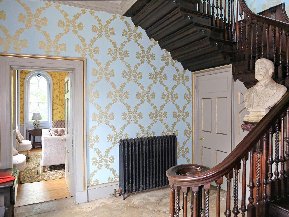 Elegant hallway - Lea Hall, Matlock