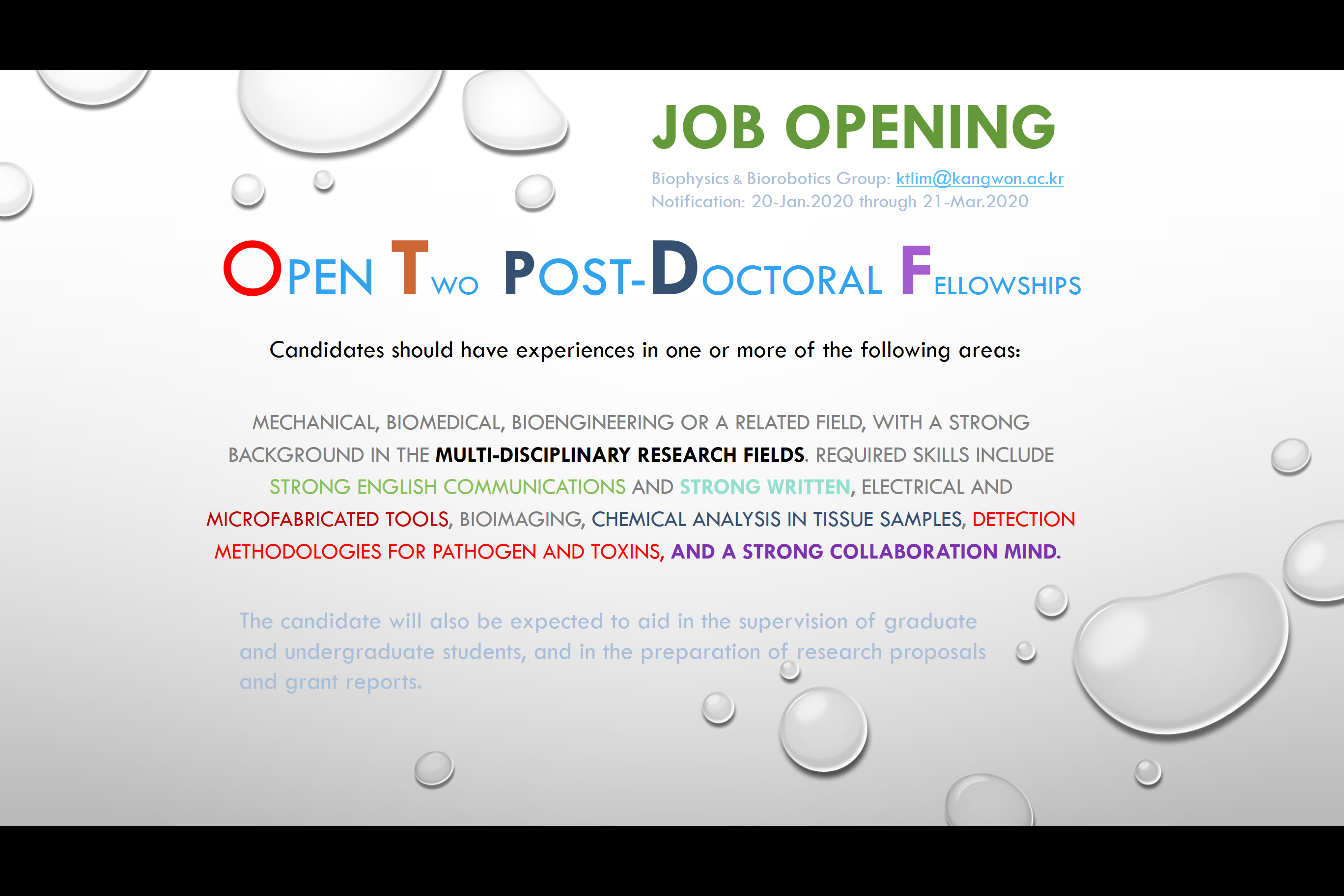 New post-doctoral fellow