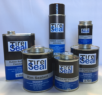 TIRE SEAL PRODUCTS, FIX A FLAT, TIRE REPAIR, INSERT STRINGS, PATCH, PLUG, VULCANIZED