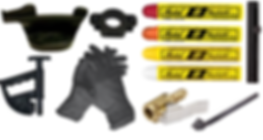 GARAGE ACCESSORIES, CHALK, GARAGE, MECHANIC GLOVES, DUCK HEAD, TIRE CHANGER