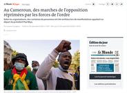 Publication web Le Monde Afrique