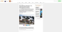 Publication web La Croix