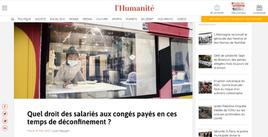 Publication web L'Humanité