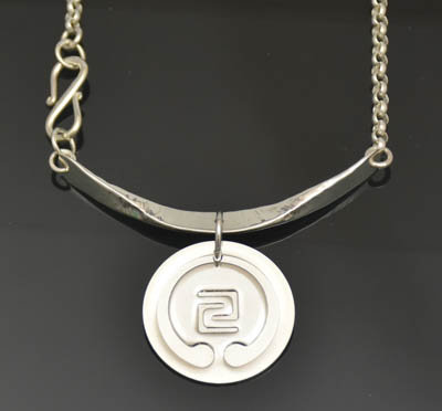 IOGKF Mon in Sterling Silver with Hand Forged Bail