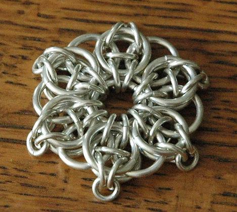 Celtic Star Sterling Silver Pendant